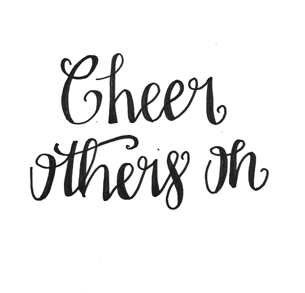 cheer others on